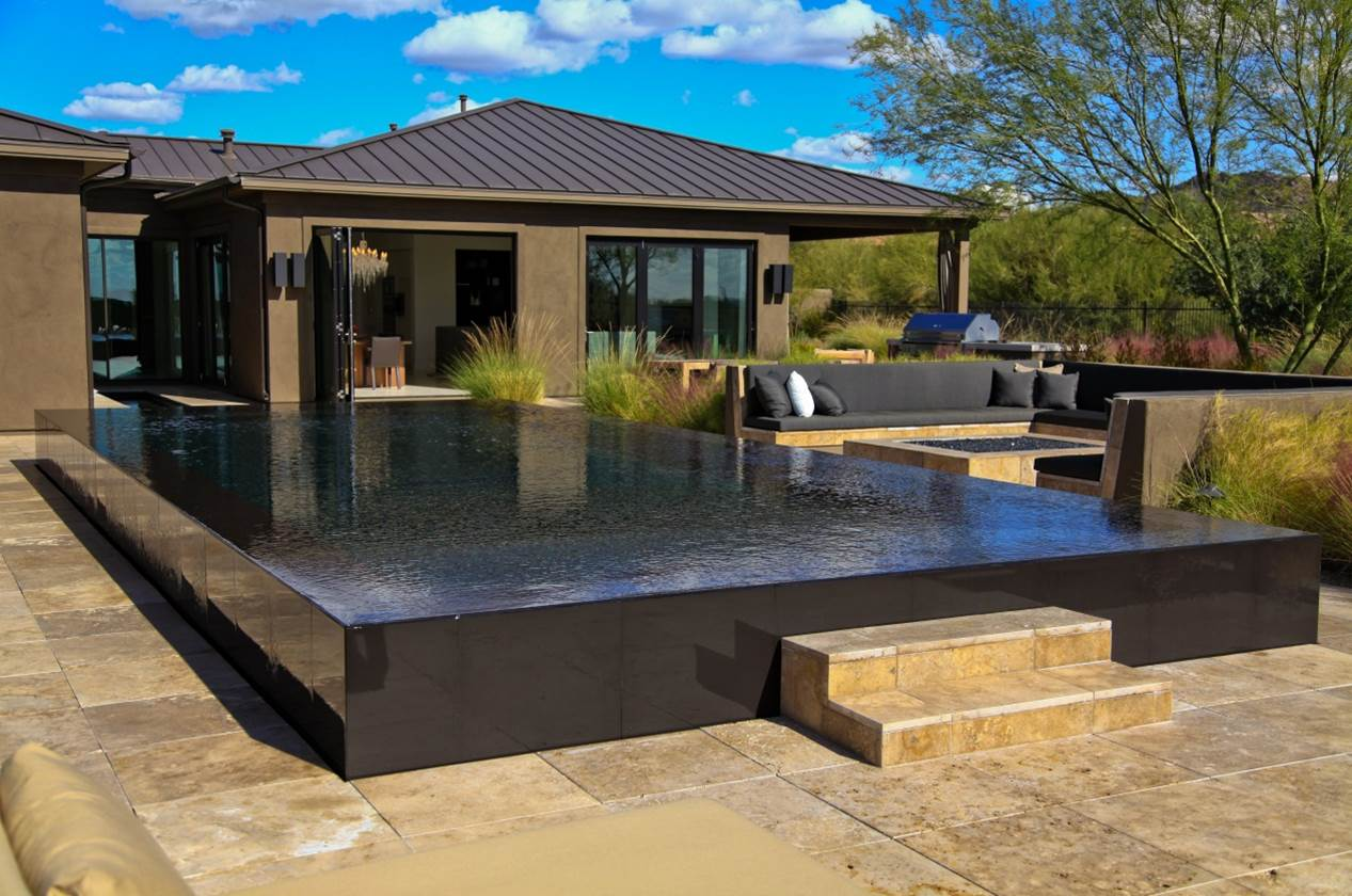 what is a perimeter overflow swimming pool design