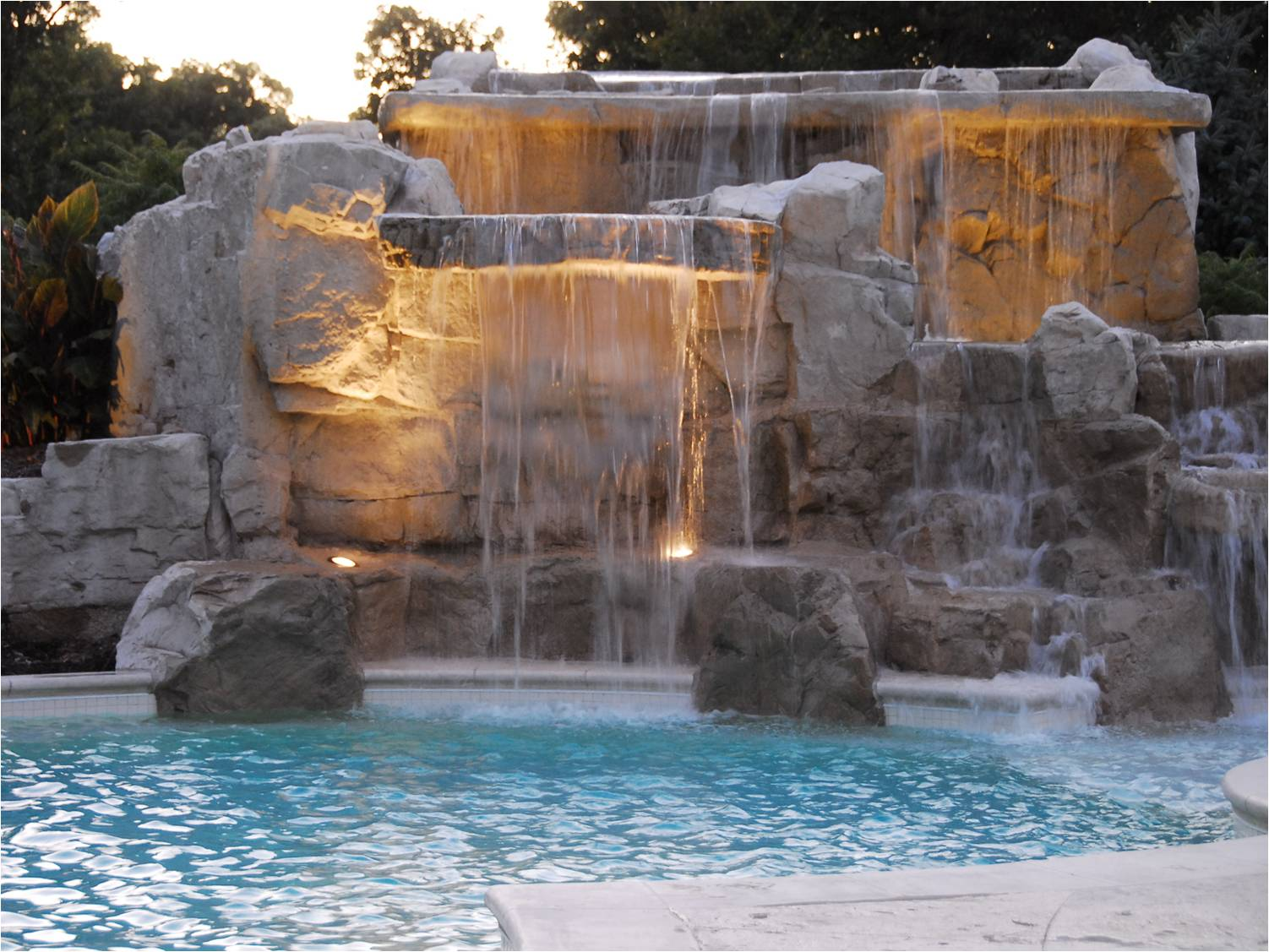 Swimming Pool Waterfalls Water Features Water Features ...