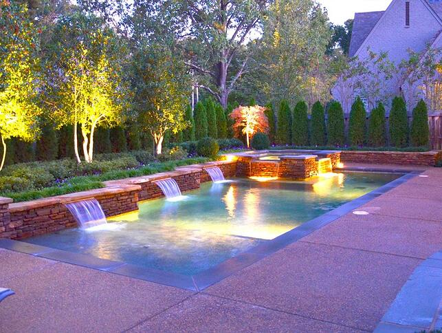 What is a sheer descent water feature in a swimming pool - Swimming pool companies in memphis tn ...