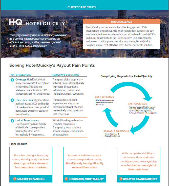 Solving Payout Pain Points for HotelQuickly