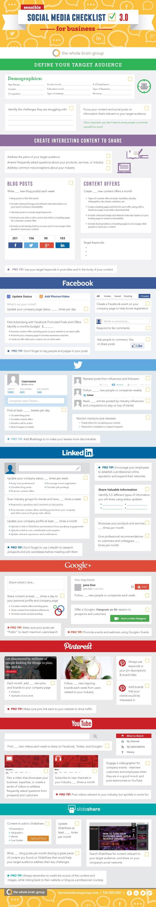 A Sensible Social Media Checklist For Business