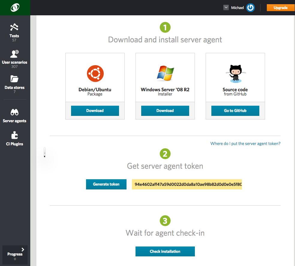 server agents, Github, Windows Server, Debian/Ubuntu,Debian, Ubuntu, Server Agents Load Impact, Server Agents load testing