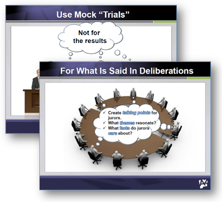 mock trial patent litigation graphics