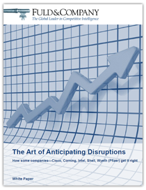 Art of Anticipating Disruptions
