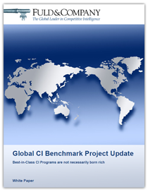 Global CI Benchmark Project Update