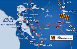 weber logistics northern california locations