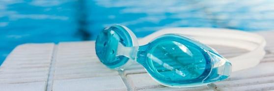 Pool swim goggles water