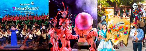 Delphinus best festivals mexican caribbean