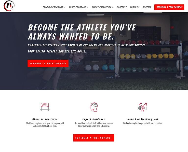 PowerAthlete Homepage After
