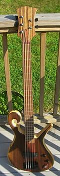 custom hardwood guitars and basses by Adam Stone