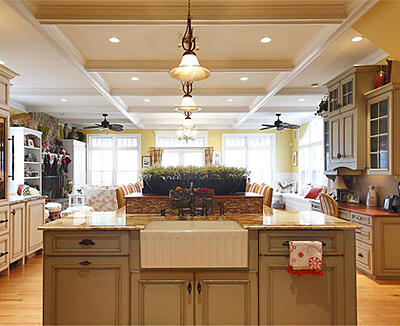 Kitchen islands can be used for a variety of activities