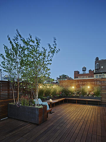 Ipe Rooftop deck and planters - Organic Gardener