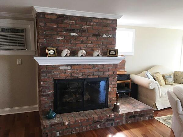 Old fireplace - before picture
