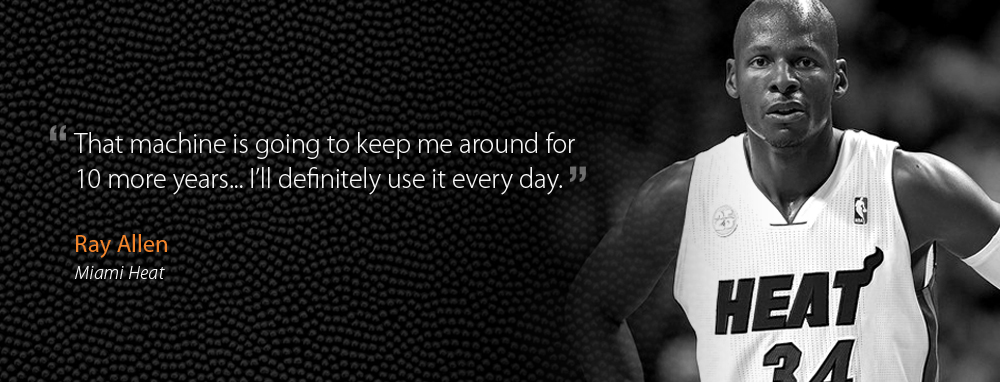Ray Allen of the Miami Heat uses the Noah Basketball System everyday