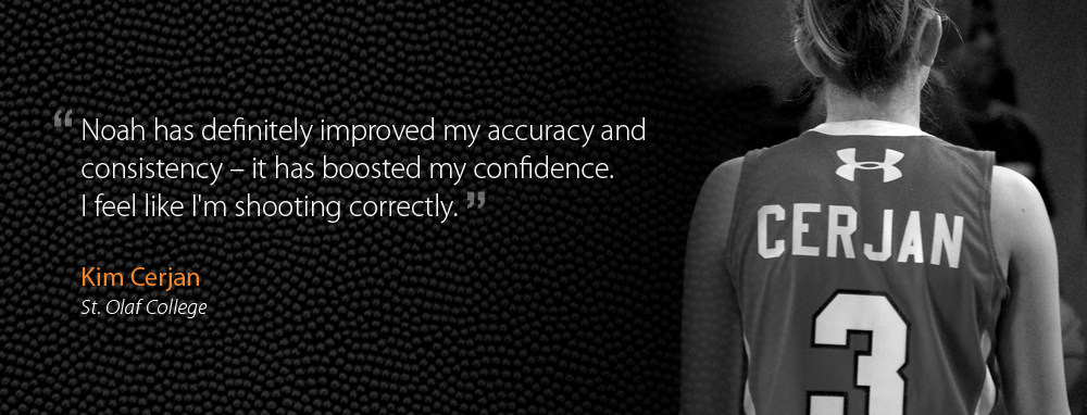 St. Olaf College Basketball Player, Kim Cerjan improving shooting accuracy, consistency and confidence