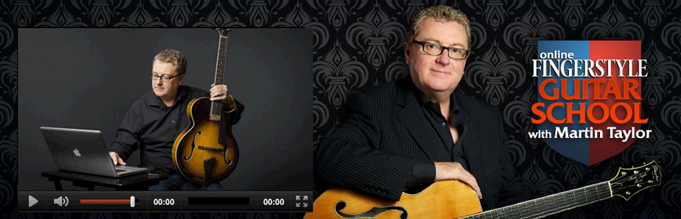Get free online jazz guitar lessons from Martin Taylor
