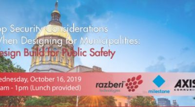 LIVE Event: Top Security Considerations When Designing for Municipalities: Design Build for Public Safety