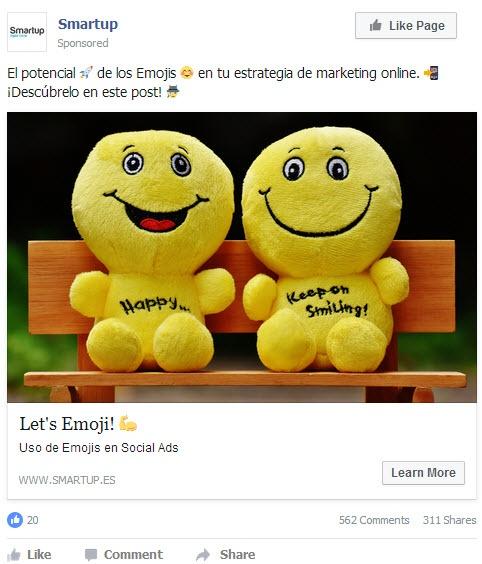 Uso de emojis en Social Ads