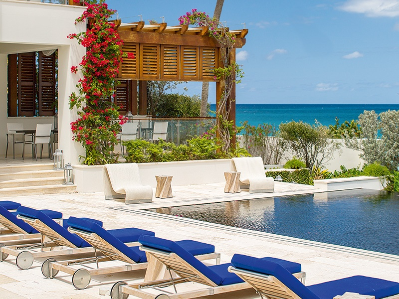 With spectacular views of the Caribbean Sea, the property is in an ideal position on the waterfront. Photograph: Laura Moss