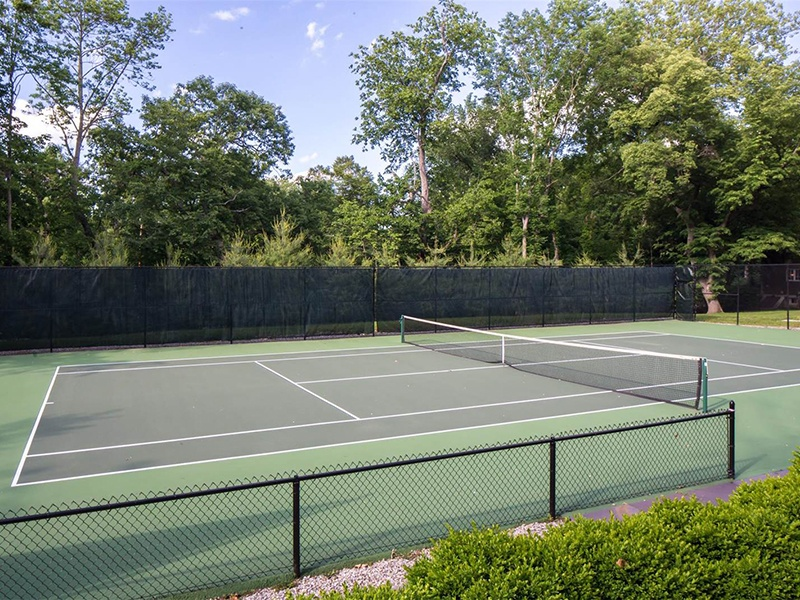 Darlington includes a tennis court with cabana within its 12 acres of grounds. Photograph: Special Properties Real Estate Services