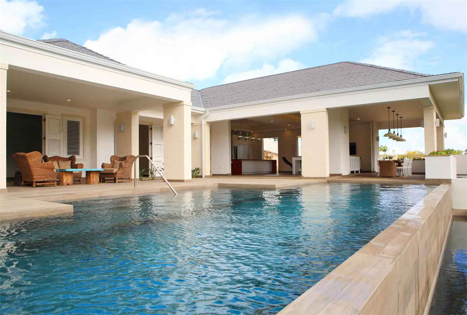 Sugar Water, a luxurious villa in Barbados's prestigious Apes Hill Club, incorporates some of the most progressive solar equipment available on today's market.