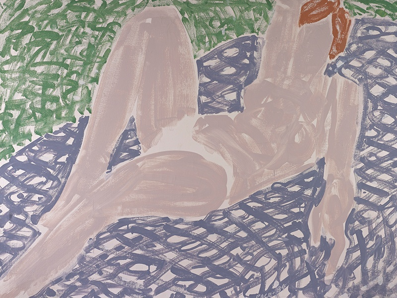 <i>White Bikini, Mauve Spread</i> by Stephen Pace, 1984, oil on canvas. Exhibitor: Berry Campbell, New York City, NY