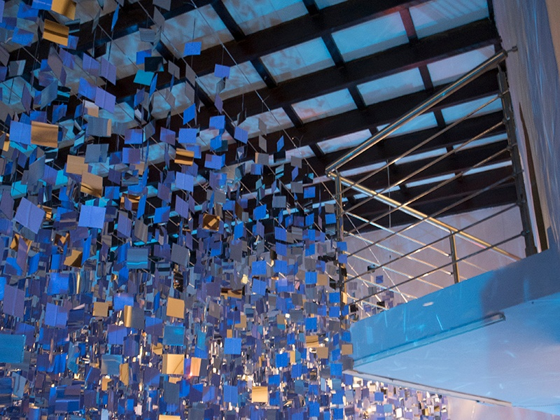<i>Marea Alta</i> by Mabel Poblet, 2015, installation, mirrors and nylon threads. Exhibitor: Cynthia Reeves, Walpole, NH