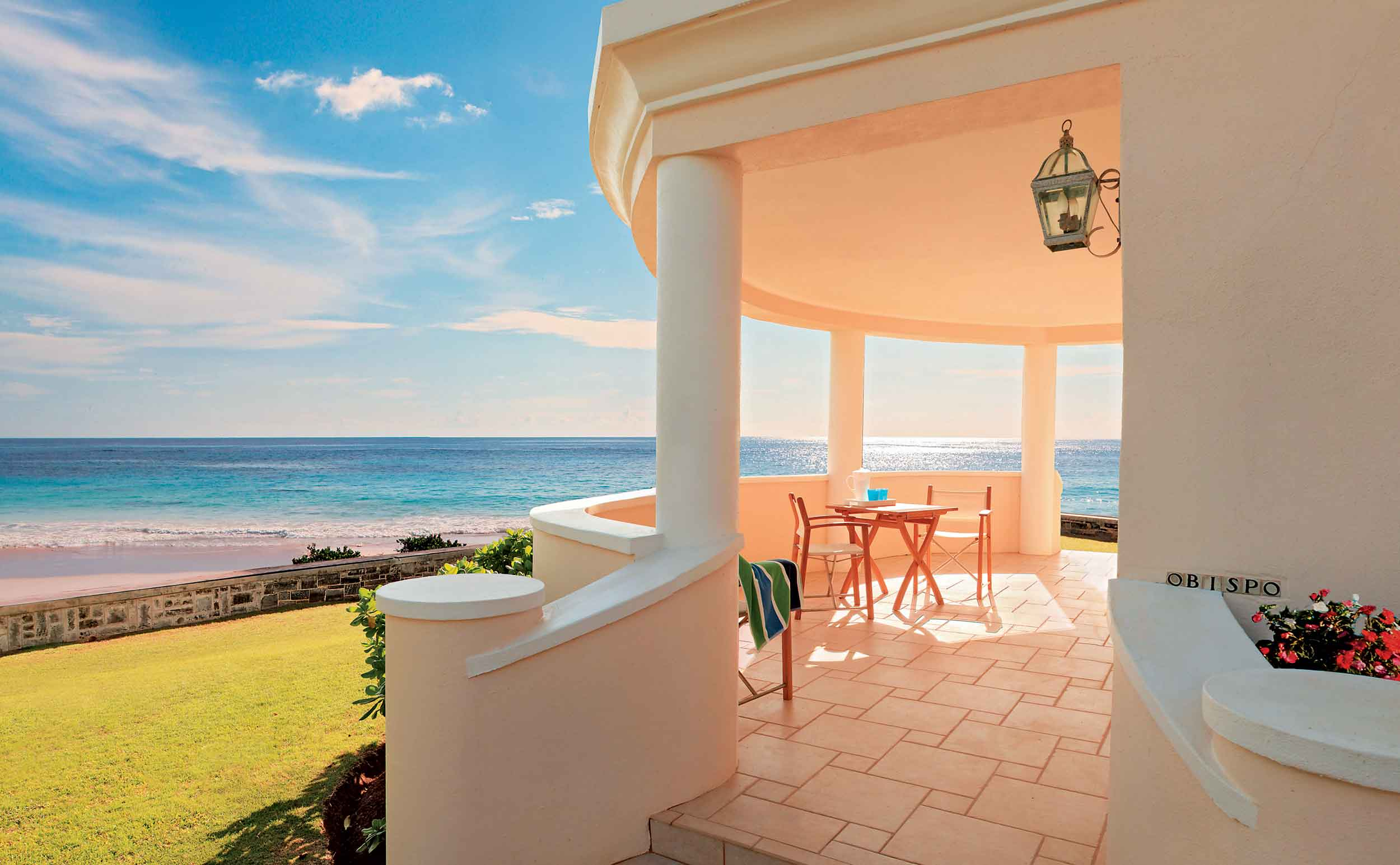 The main residence and glorious 14-acre grounds are complemented by a host of unique dwellings; a little pavilion known as Obispo overlooks the pink sands and turquoise waters of Grape Bay.