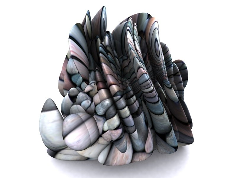 A 3D-printed sculpture, <i>Cybaroque_01</i> (2015), by digital tech early adopter Professor Keith Brown.