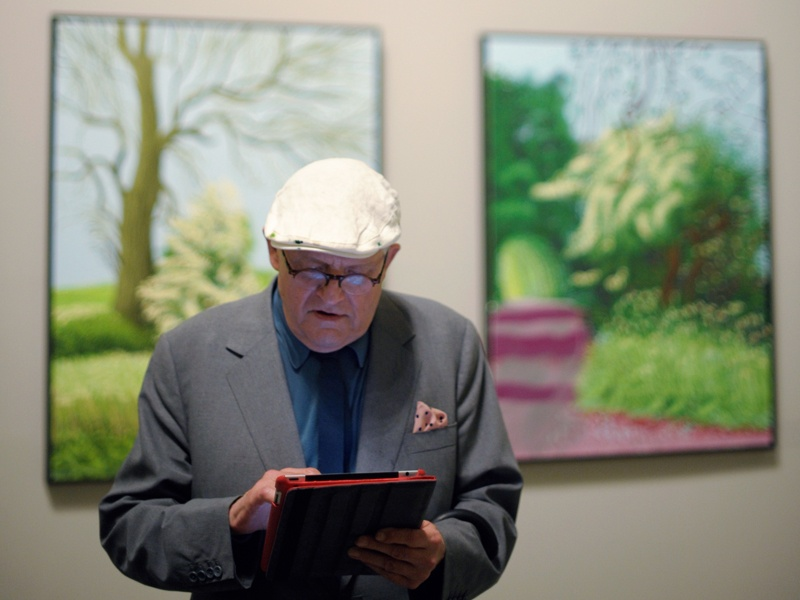 David Hockney enjoys the immediacy iPads provide. Photograph: Vincent West/Reuters