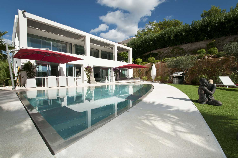 <b>Ibiza, Spain</b><br/><i>7 Bedrooms, 6,189 sq. ft.</i><br/>Modern villa with beautiful views to Formentera and Dalt Vila
