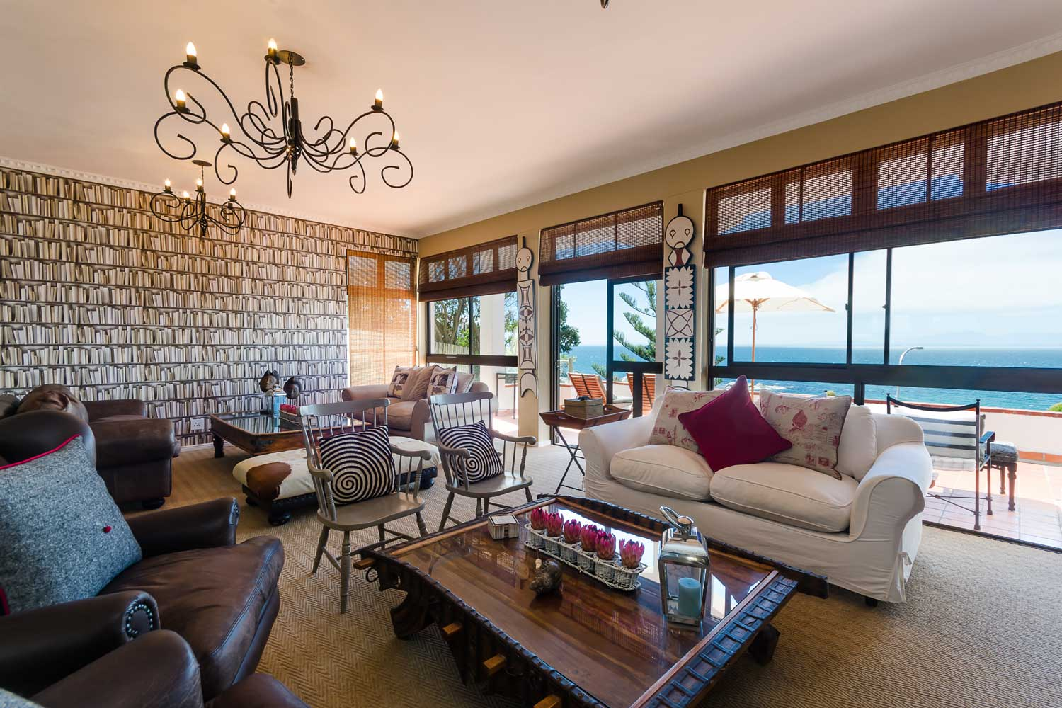<b>Cape Town, Western Cape, South Africa</b><br/><i>11 Bedrooms, 7,007 sq. ft.</i><br/>Seaside home with views of False Bay