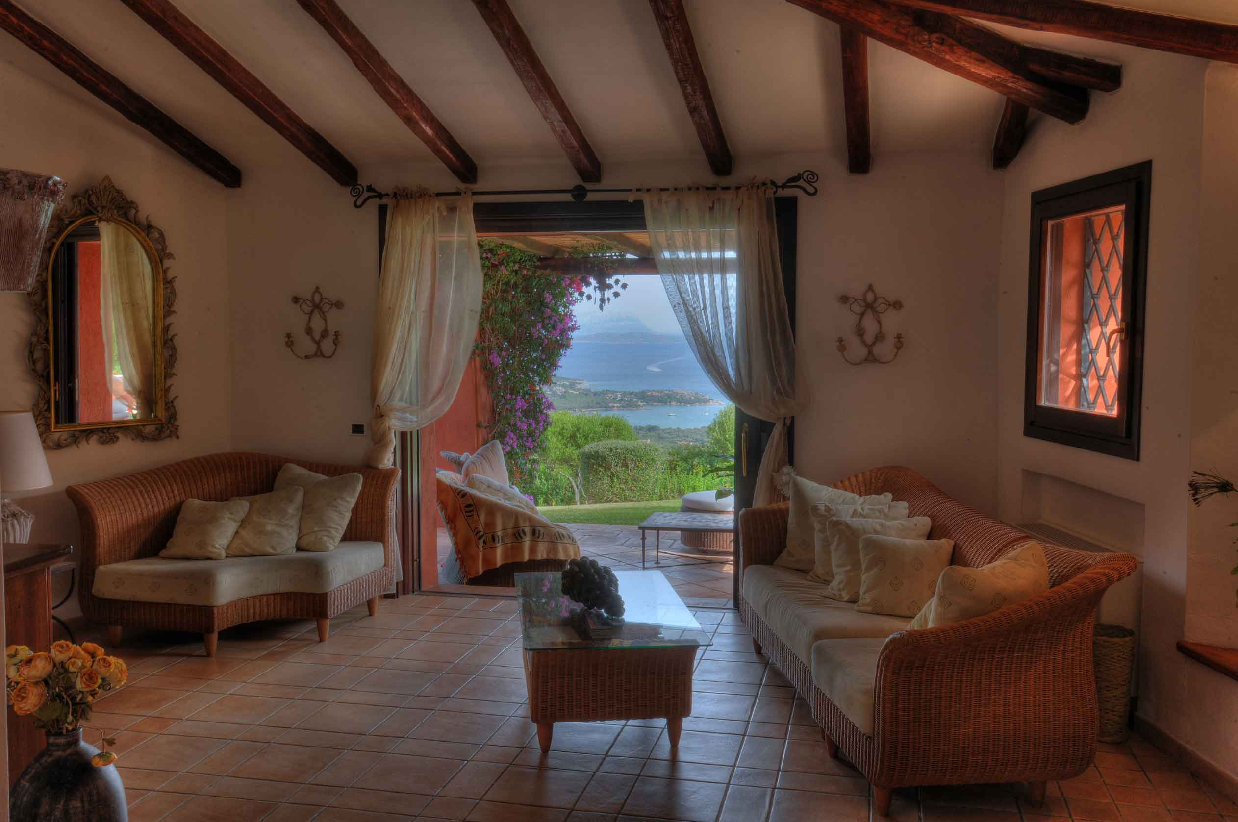 Villa Liccia enjoys a prized location on the grounds of the prestigious Pevero Golf Club, home to the championship course designed by the late American golf architect Robert Trent Jones.