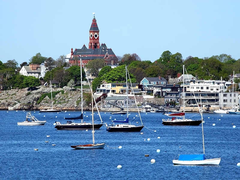Marblehead Harbor is a good stopping-off point for trips to Maine and it also hosts an annual race week, which dates back to 1889. Photograph: Getty Images