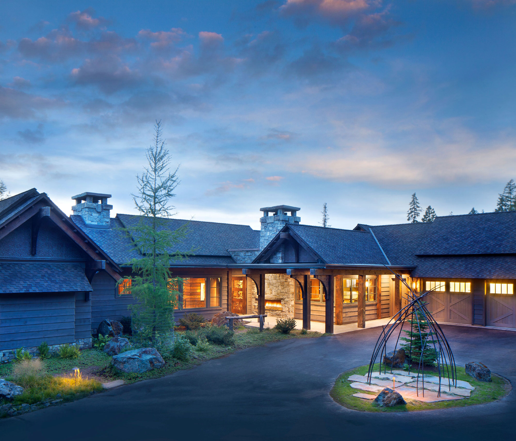 This four-acre estate is located in the private Iron Horse resort, minutes away from Glacier National Park and world-class skiing at Whitefish Mountain Resort.