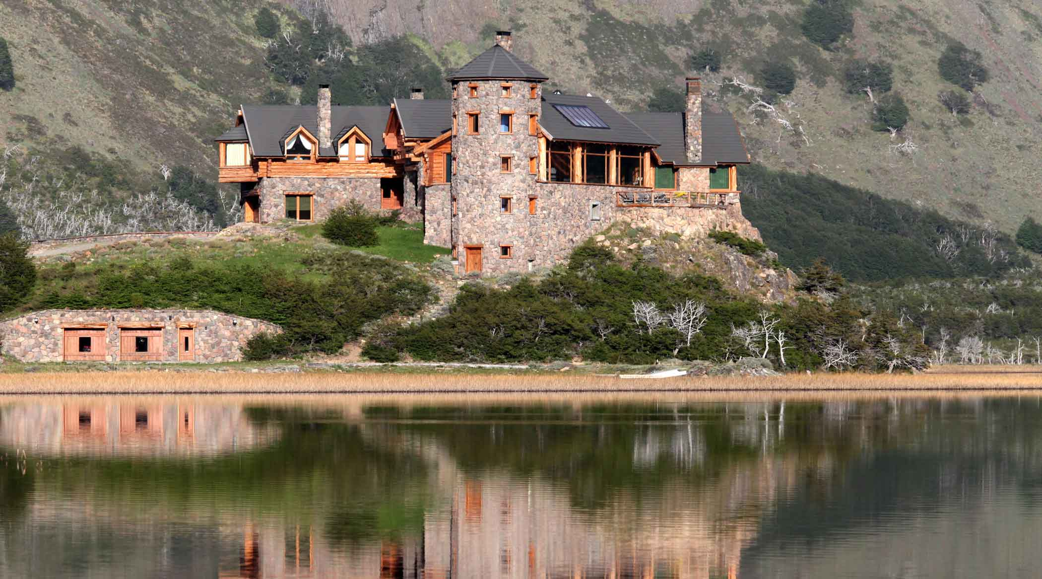 Ultra-private and ultra-luxury, this Patagonian lakefront retreat rests amid a private 6,040-acre eco preserve in the foothills of the Andes mountains.