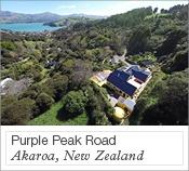 Purple Peak Road, Akaroa, New Zealand