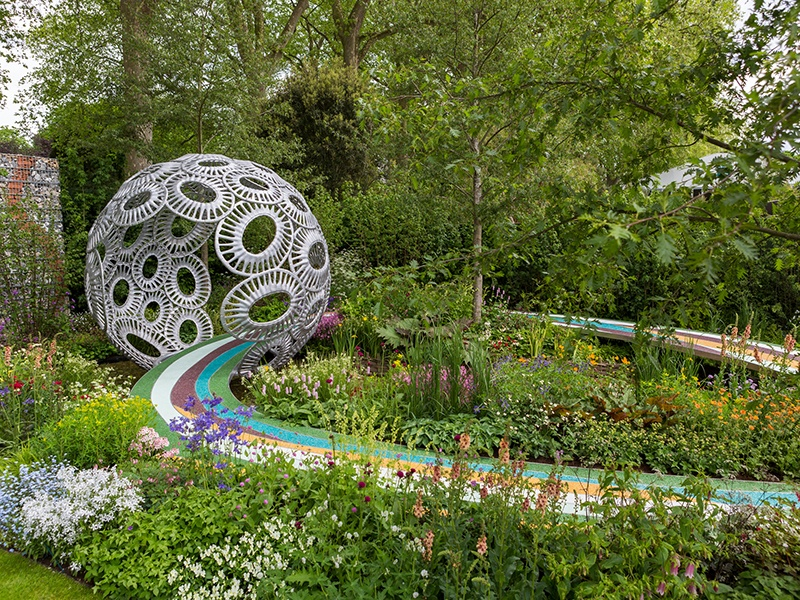 The Brewin Dolphin Garden, designed by Rosy Hardy for last year's RHS Chelsea, invited visitors to consider the fragility of rare chalk streams. Photograph: RHS/Sarah Cuttle
