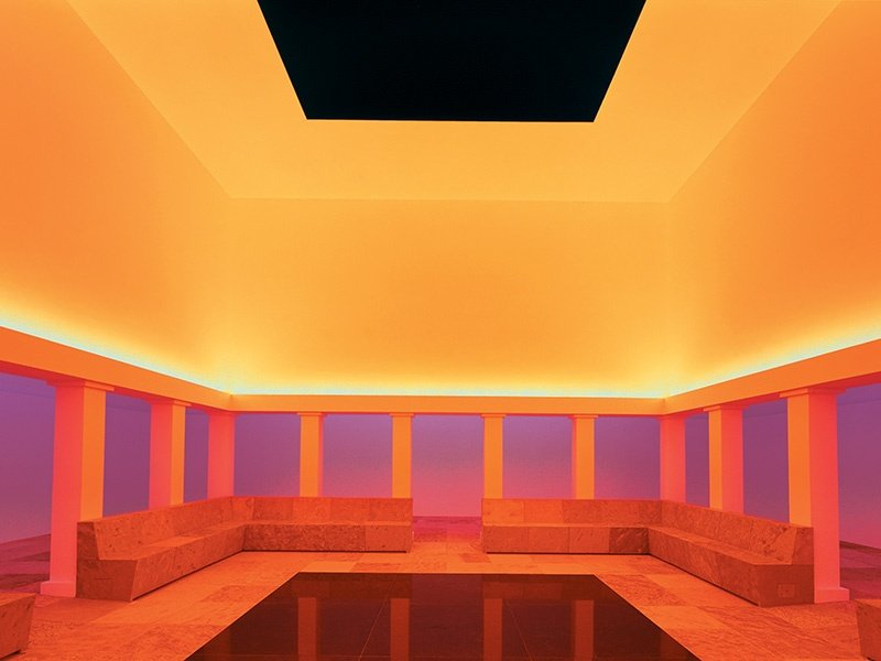 """Another of James Turrell's installations at the Hess-owned museum is <i>Unseen Blue</i>, the world's largest """"skyspace"""". Photograph: Florian Holzherr"""