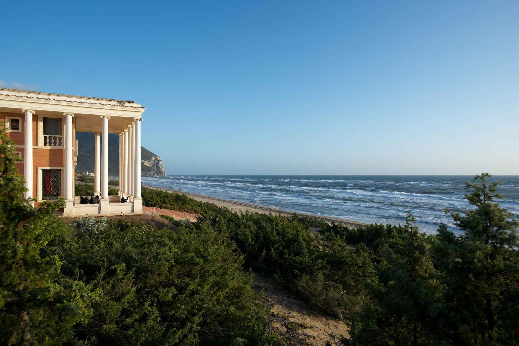 Villa Volpi is a triumph of design on the shores of the Tyrrhenian Sea, near the Roman resort town of Sabaudia.