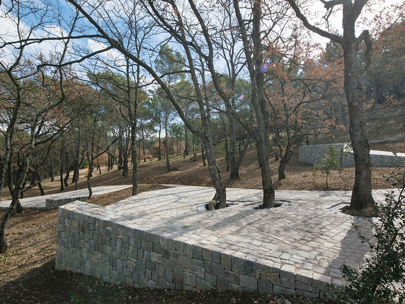 In the south of France, Château La Coste's impressive artworks and architecture include the <i>Ruyi Path</i> (2017) installation by Ai Weiwei. Photograph: Stéphane Aboudaram/WE ARE CONTENT(S). Banner image: Barry Flanagan's <i>Hospitality</i>. Photograph: The Estate of Barry Flanagan, 2017