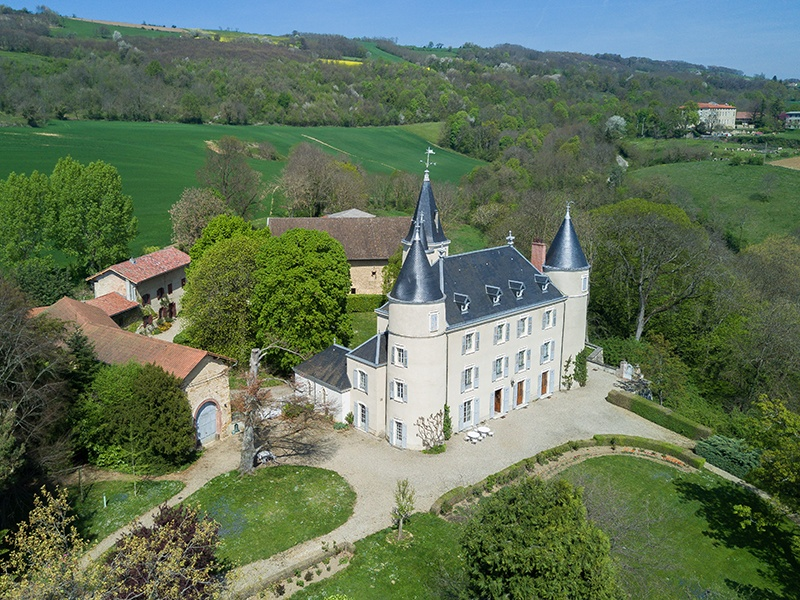 Located between Lyon and Chambéry, this fairytale-like 17th-century castle has 11 bedrooms, five bathrooms, and is set within 79 acres of land. Photograph: Agence Clerc
