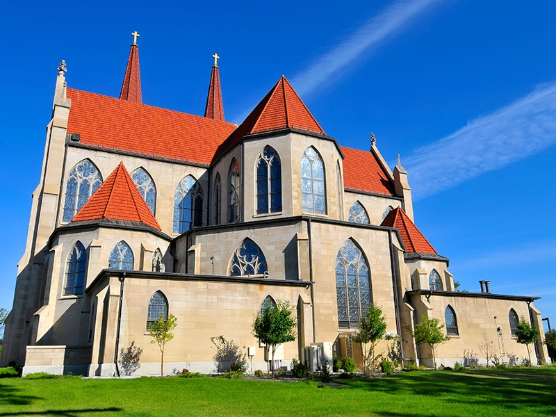 A.O. Von Herbulis, the architect of the neo-Gothic Cathedral of St. Helena, took inspiration from the Votivkirche in Vienna, Austria, making the church a unique sight in the capital city's skyline. Photograph: Alamy
