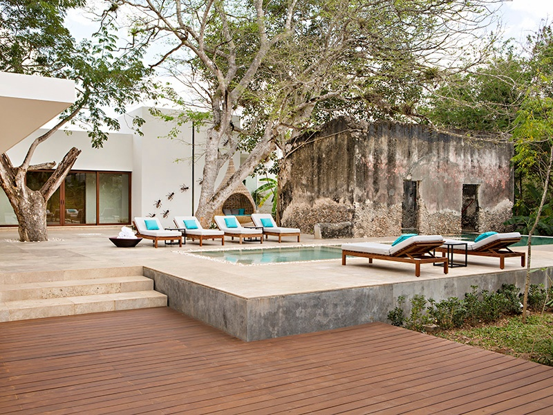 Accommodation at Chablé Resort and Spa is within individual casitas dotted around the expansive grounds—each with its own pool and outdoor shower.