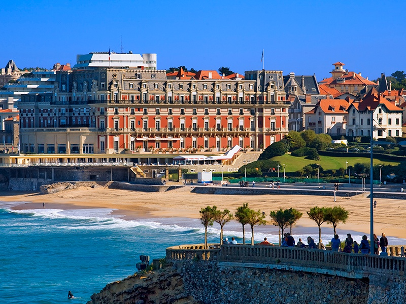 """The resort town of Biarritz draws surfers year after year, as well as elegant sun-seekers. """"The glamorous 1920s villas around Biarritz are renowned,"""" says Nicolas Descamps, Director of Côte Ouest, Christie's International Real Estate's exclusive regional affiliate. Photograph: Getty Images"""