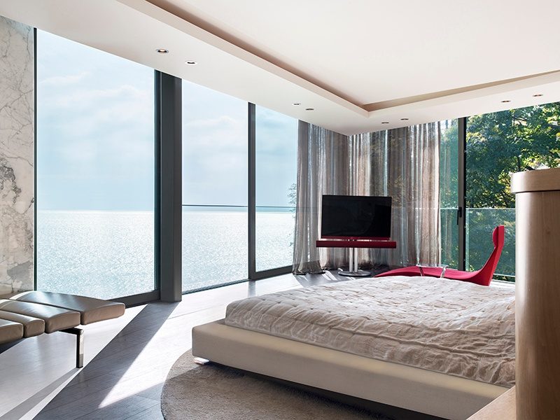 Designed to emphasize its location on Lake Geneva, each of the property's rooms offers views of the water. Photograph: SPG Finest