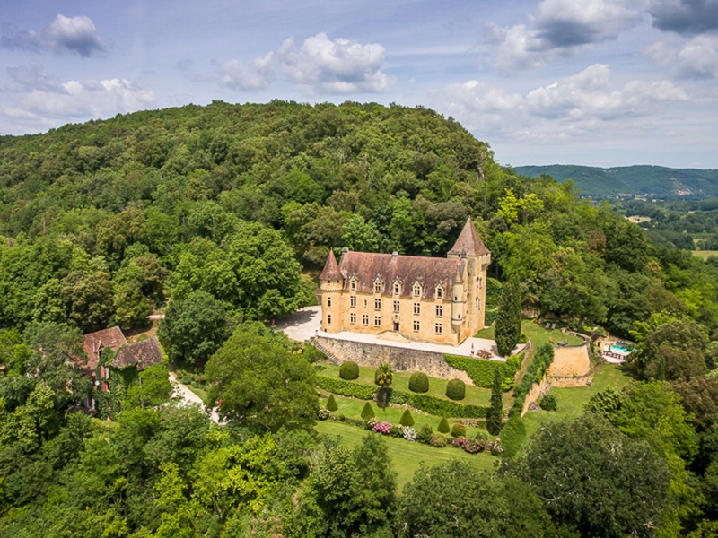 This 17th-century Renaissance château in Sarlat-la-Canéda has 10 bedrooms, most of which are located on the valley side of the property, offering unparalleled views of the Dordogne river. Photograph: Maxwell-Baynes