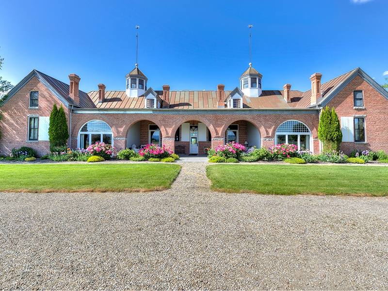 """Among the """"copper kings"""" who helped build Montana's mining industry, Marcus Daly was also known for his investment in thoroughbred breeding. Tammany Hill is his former stable, now converted into a luxury home that retains equestrian touches. Photograph: PureWest Real Estate"""