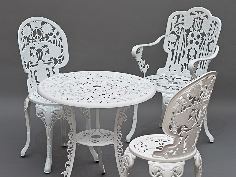 Expressive and experimental, Studio Job draws upon classical, popular, and contemporary design and visual art for its intricate garden chairs. Photograph: ARBOL house/ovohome.com