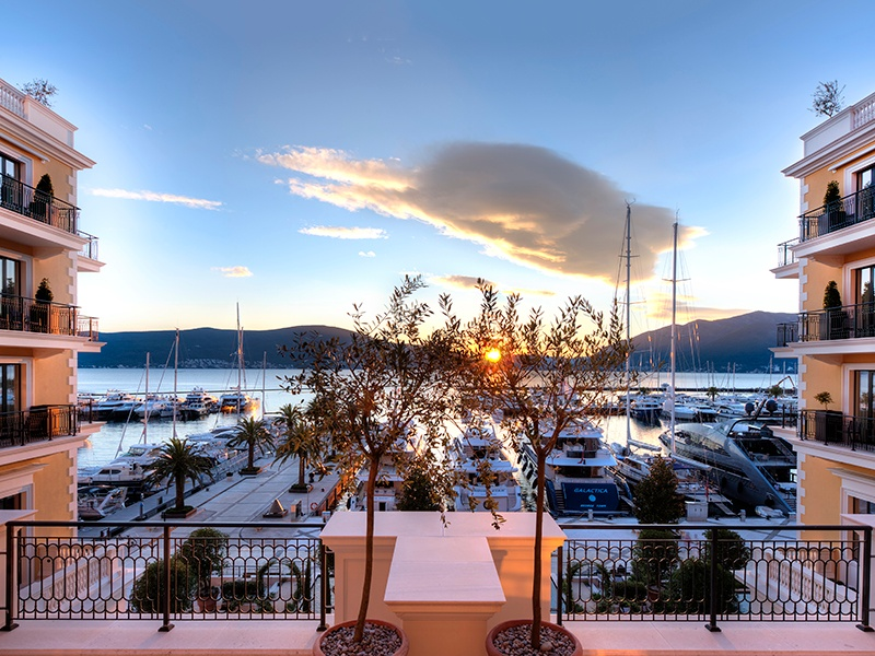 Spectacular sunsets come as standard in Porto Montenegro—only a day's sail from some of the Mediterranean's most popular sailing areas, including the islands dotting the Dalmatian coast.
